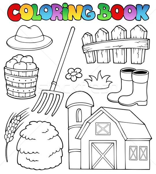 Coloring book farm theme 2 Stock photo © clairev