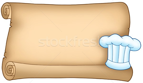 Scroll with chefs hat 1 Stock photo © clairev