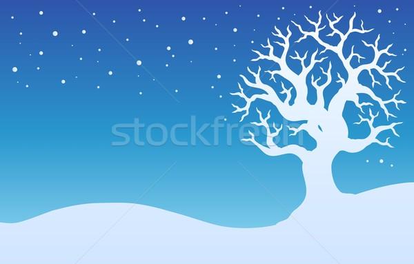 Winter tree with snow 1 Stock photo © clairev