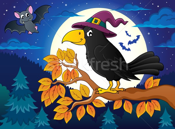 Witch crow theme image 2 Stock photo © clairev