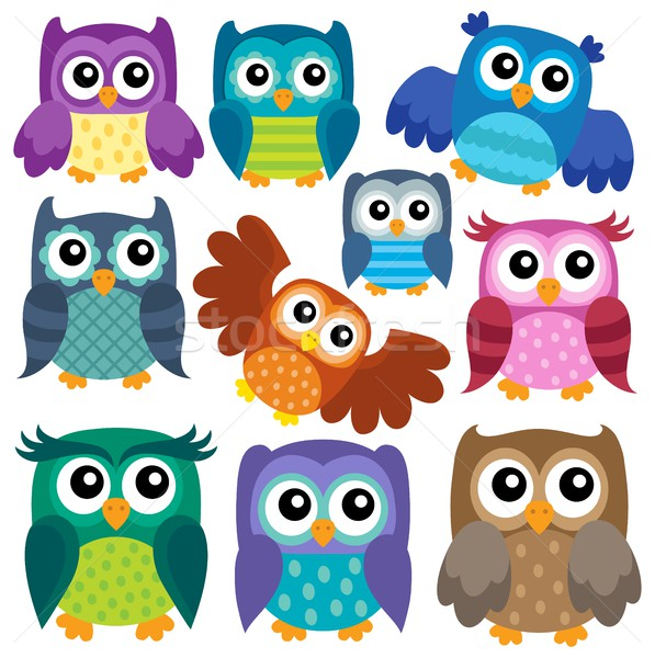 Owl theme collection 1 Stock photo © clairev