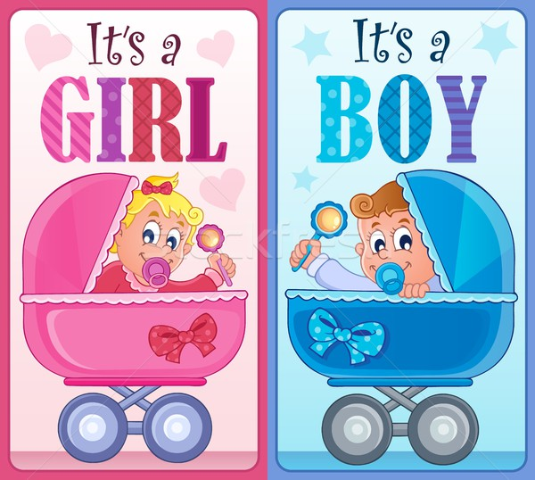 Is it a girl or boy theme 7 Stock photo © clairev