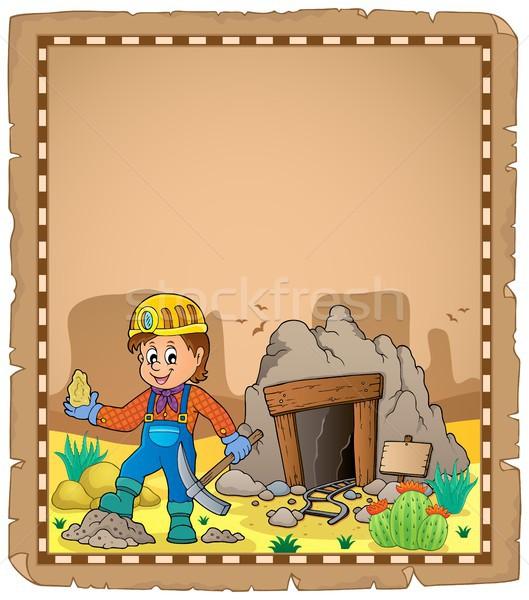 Miner theme parchment 2 Stock photo © clairev