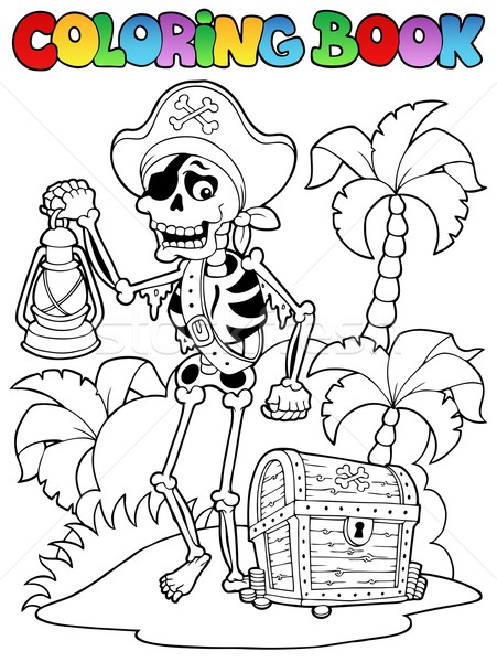 Coloring book with pirate topic 8 Stock photo © clairev