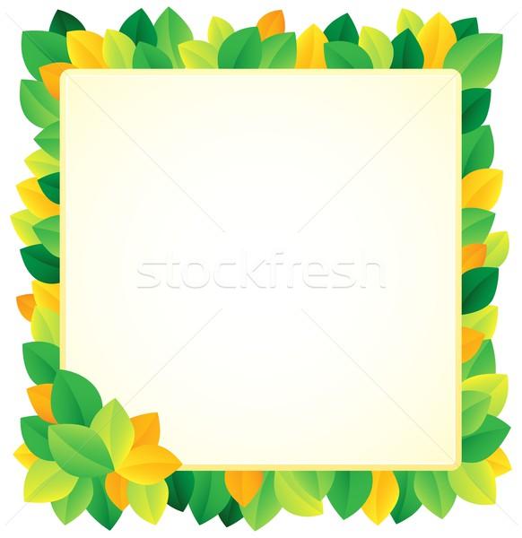 Leafy theme frame 1 Stock photo © clairev