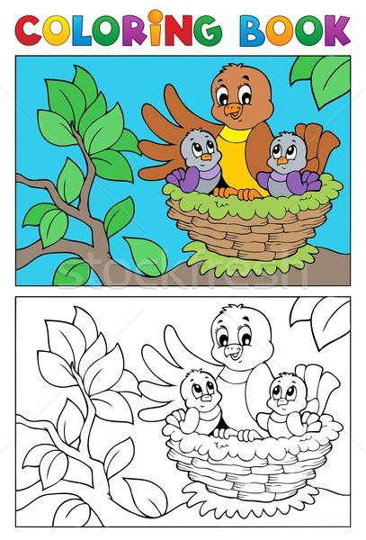 Stock photo: Coloring book bird image 5