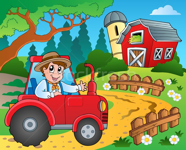 Farm theme with red barn 9 Stock photo © clairev