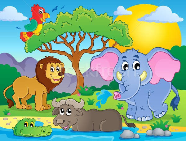 Cute African animals theme image 9 Stock photo © clairev