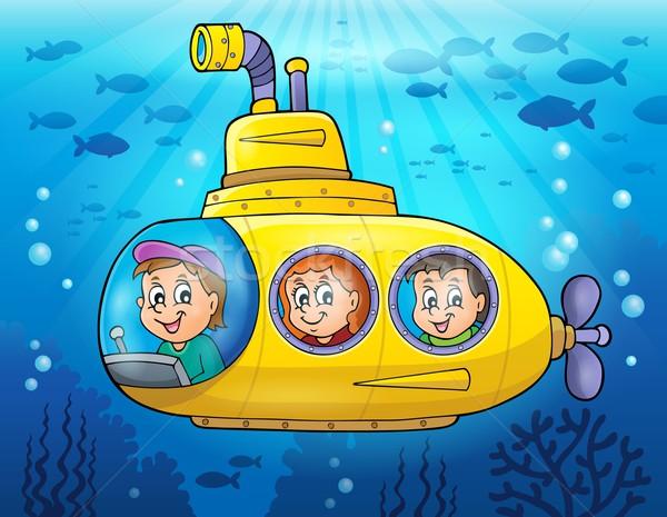 подводная лодка изображение воды лице ребенка искусства Сток-фото © clairev