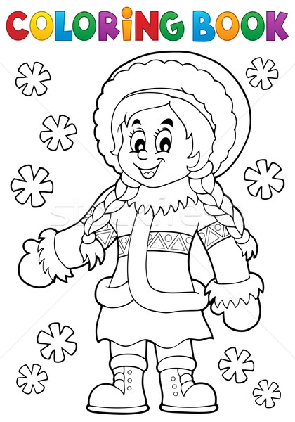 Coloring book Inuit thematics 2 Stock photo © clairev
