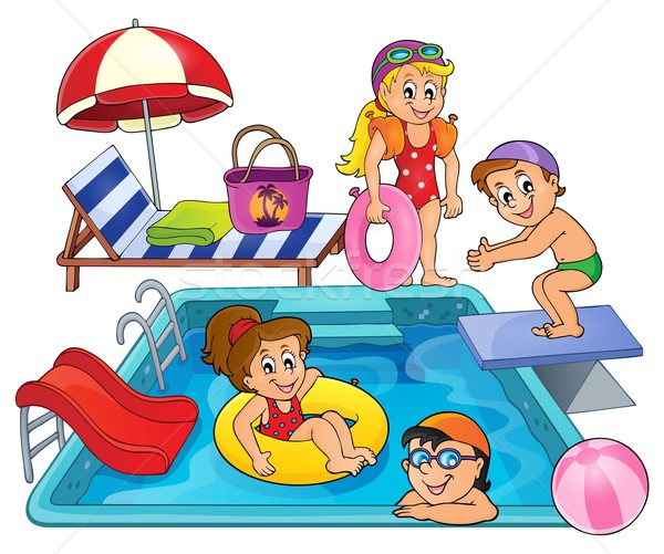 Children by pool theme image 1 Stock photo © clairev