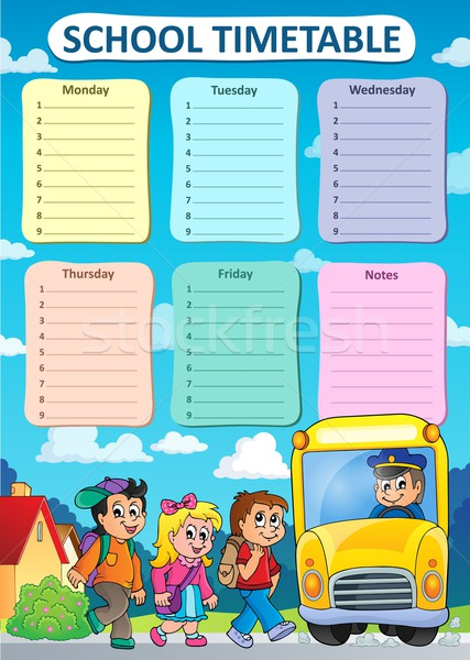 Weekly school timetable theme 9 Stock photo © clairev