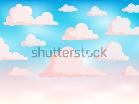Rose ciel art bleu nuage graphique Photo stock © clairev