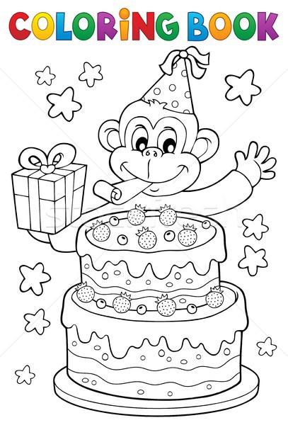 Carte De Colorat Tort Petrecere Maimuţă Carte