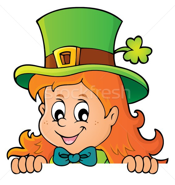 Lurking leprechaun girl theme 1 Stock photo © clairev