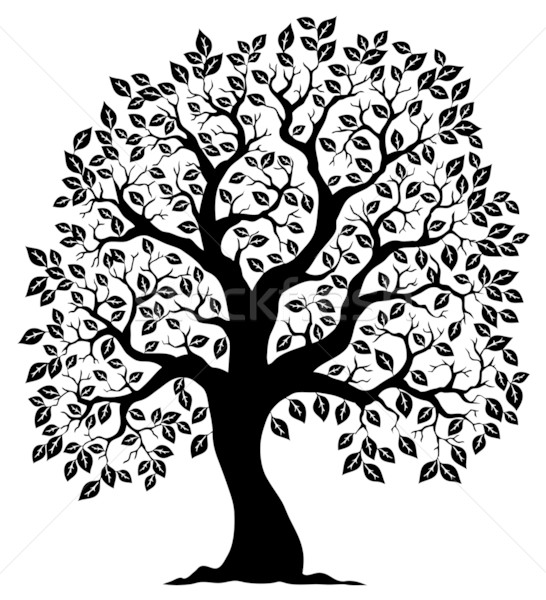 Tree shaped silhouette 3 Stock photo © clairev