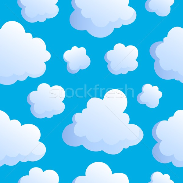 Seamless background with clouds 2 Stock photo © clairev