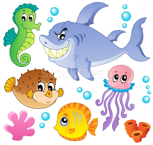 Sea fishes and animals collection 4 Stock photo © clairev