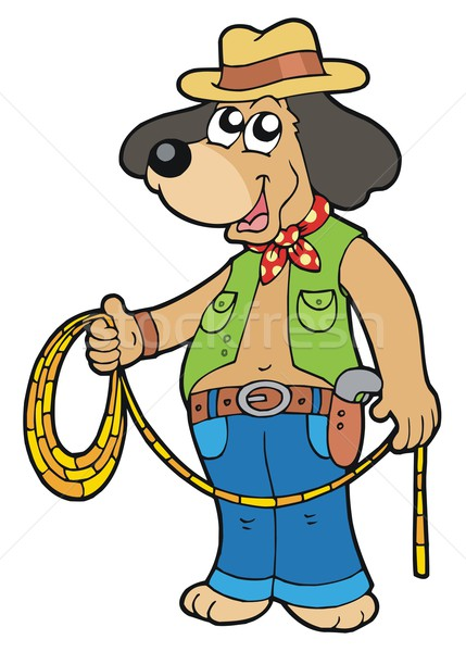 Cowboy dog with lasso Stock photo © clairev