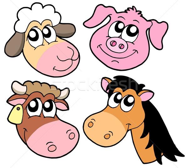 Farm animals details collection Stock photo © clairev