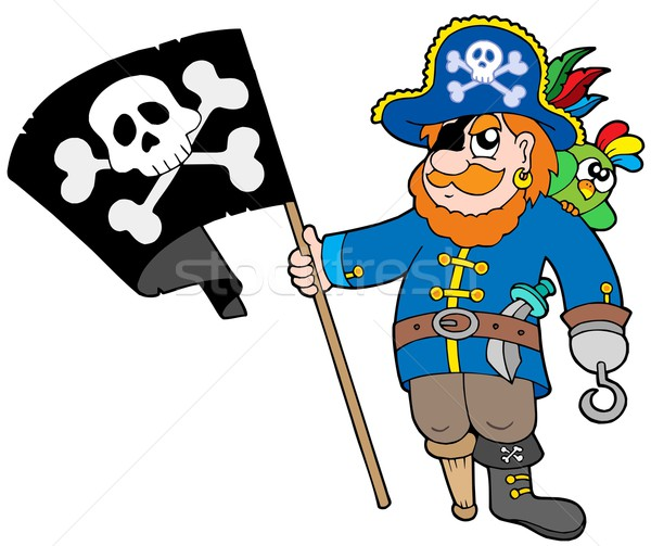 Pirate with flag Stock photo © clairev