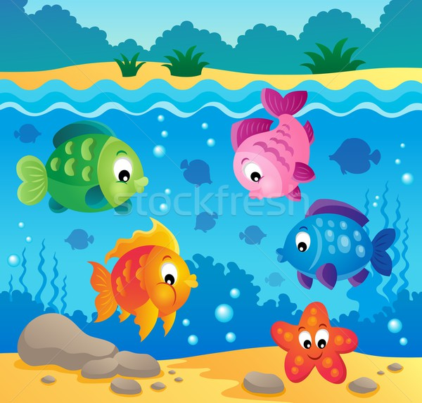 Underwater ocean fauna theme 3 Stock photo © clairev
