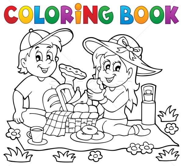 Boyama Kitabi Piknik Cicek Cicekler Kitap Cocuk
