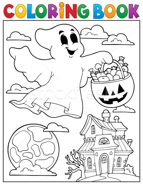 Coloring book ghost theme 5 Stock photo © clairev