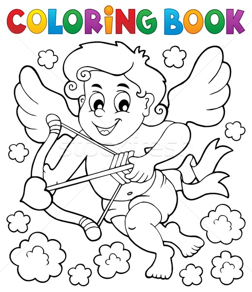 Coloring book with Cupid 5 Stock photo © clairev