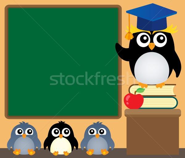 школы изображение книгах учитель птиц классе Сток-фото © clairev