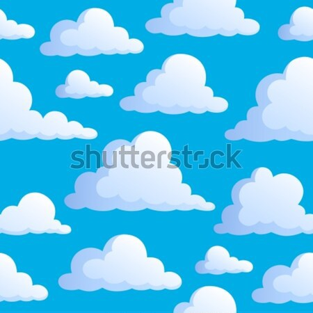 Seamless background with clouds 3 Stock photo © clairev