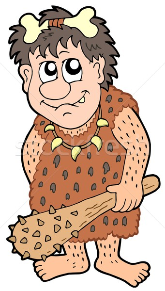 Cartoon prehistoric man Stock photo © clairev
