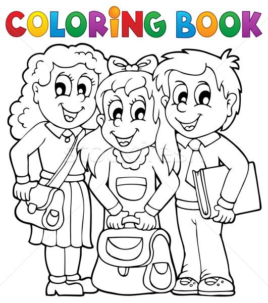 Boyama Kitabı Kız Gülümseme çocuklar Kitap öğrenci