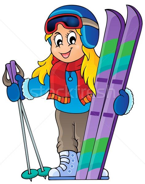 Skiing theme image 1 Stock photo © clairev