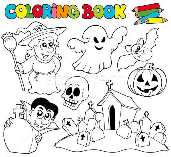 Boyama Kitabi Halloween Sanat Sonbahar Hayvan Cizim