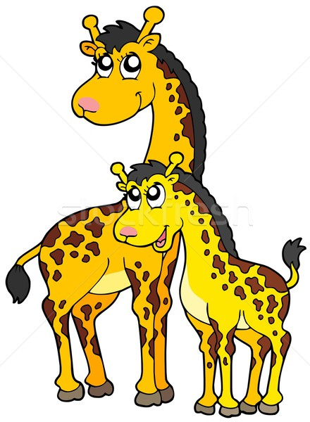 Female and baby giraffes Stock photo © clairev