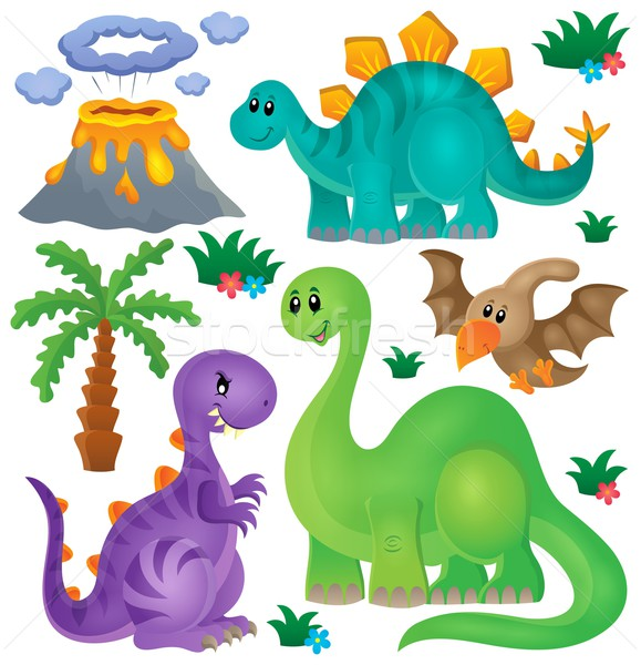 Dinosaur theme set 1 Stock photo © clairev