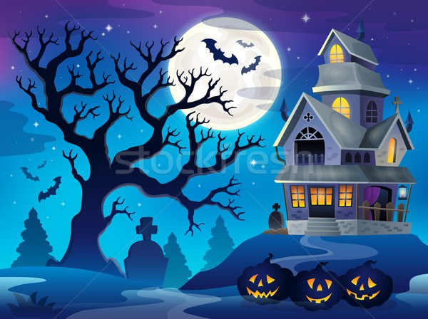 Image with haunted house thematics 6 Stock photo © clairev