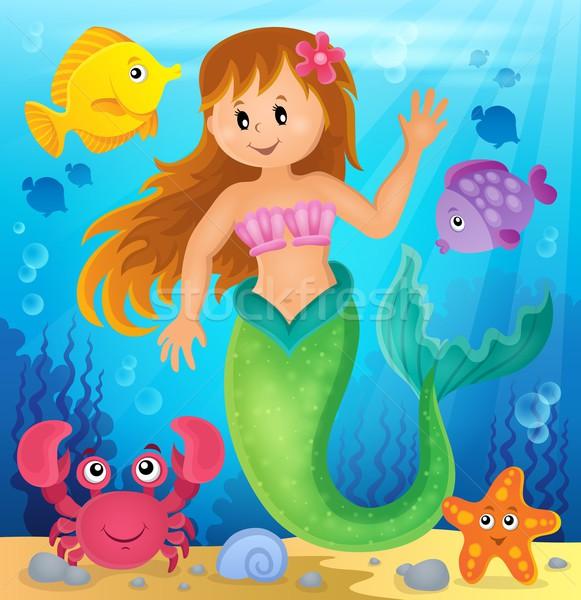Sereia imagem mulher mar beleza subaquático Foto stock © clairev
