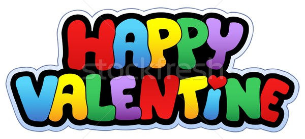 Boldog Valentin nap rajz felirat művészet románc Stock fotó © clairev
