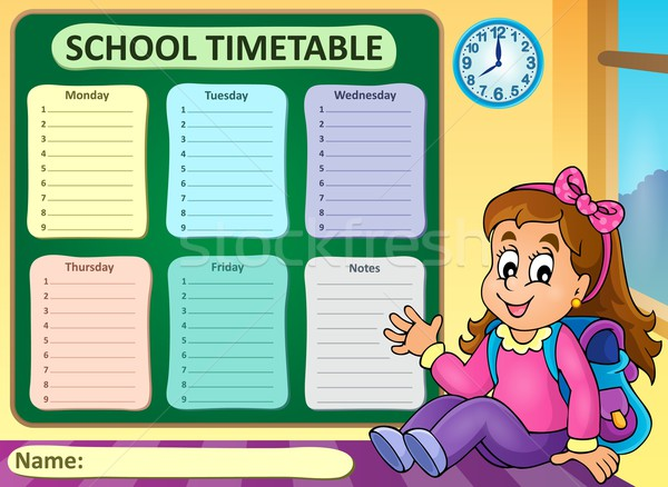 Weekly school timetable theme 7 Stock photo © clairev