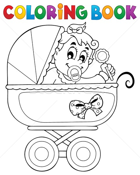 Coloring book baby theme image 4 Stock photo © clairev