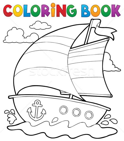 Kifestőkönyv tengerészeti csónak víz könyv tenger Stock fotó © clairev