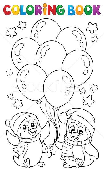 книжка-раскраска вечеринка книга счастливым искусства звезды Сток-фото © clairev