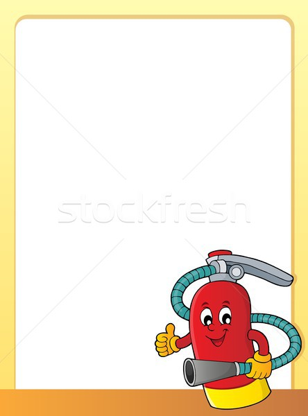 Fire extinguisher topic frame 1 Stock photo © clairev