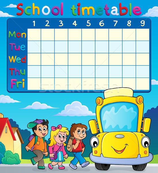 School dienstregeling leerlingen bus kind reizen Stockfoto © clairev