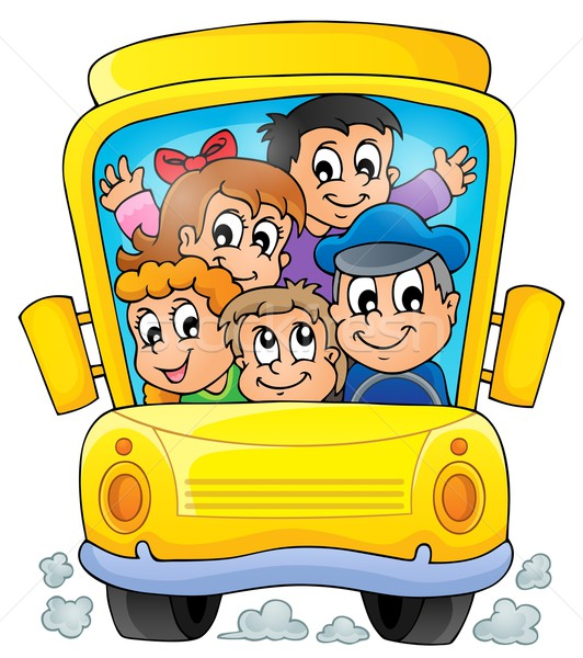 Image with school bus theme 1 Stock photo © clairev