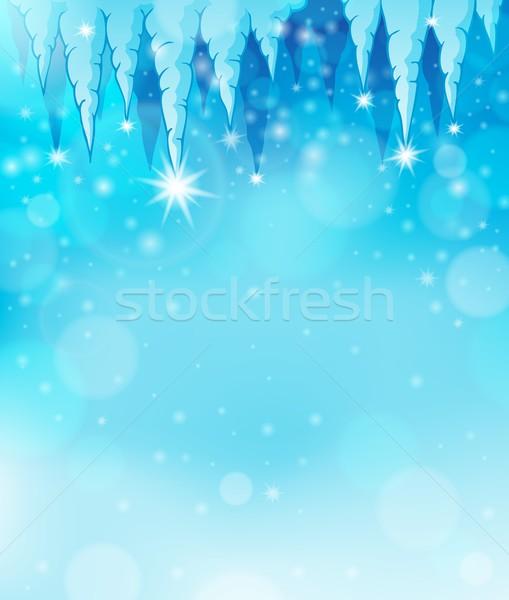 Buz saçağı görüntü ışık dizayn arka plan sanat Stok fotoğraf © clairev