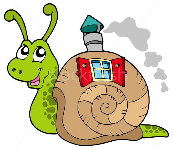 Snail with shell house Stock photo © clairev