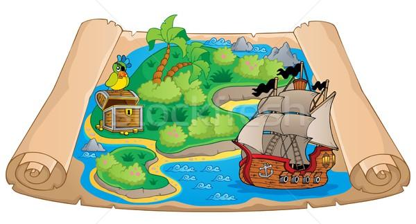 Карта сокровищ тема изображение бумаги карта искусства Сток-фото © clairev